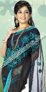 Black Jacket Moslin Dhakai Jamdani Saree, Eid Collection 2014, Saree, Sharee, Sari, Bangladeshi Saree