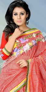 Half Silk Saree Dhakai Jamdani Saree, Eid Collection 2014, Saree, Sharee, Sari, Bangladeshi Saree