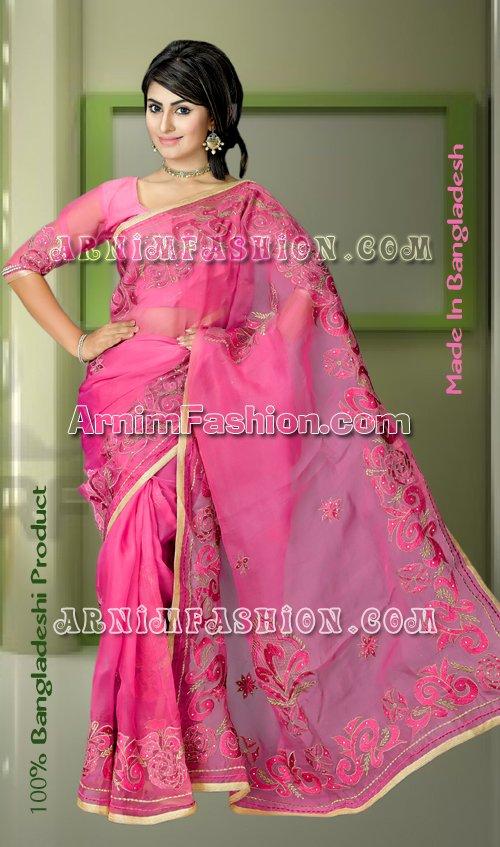 Pink Saree Latest Bangladeshipink Sareecollection From Bangladeshipink